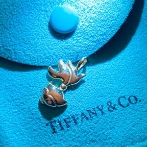 Rare Tiffany co goldfish pendant